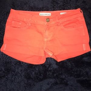 Rust/orange jean shorts